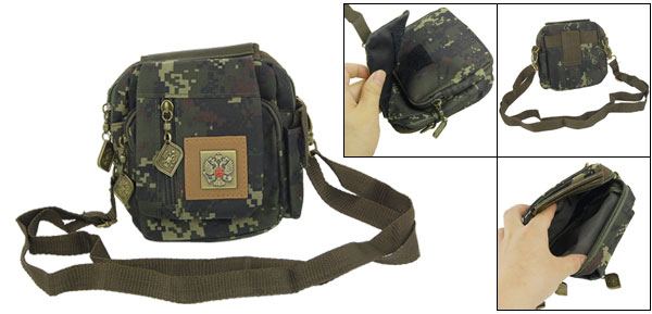 Ladies Adjustable Strap 4 compartments Zippered Camouflage Cross Body Bag