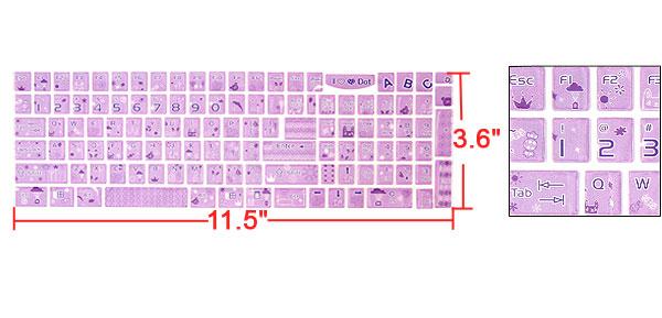Notebook Keyboard Lavender Cartoon Style Bear Sticker