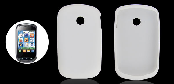 White Smooth Silicone Protector Shell Case for LG T310