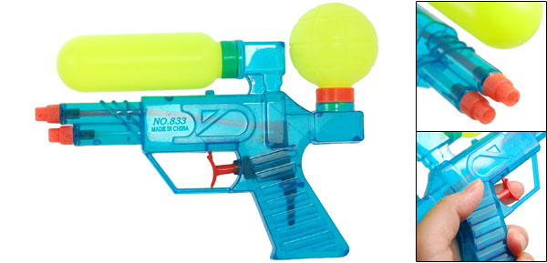 Children Kids Fun Plastic Water Squirt Gun Fight Toy Blue Green-yellow