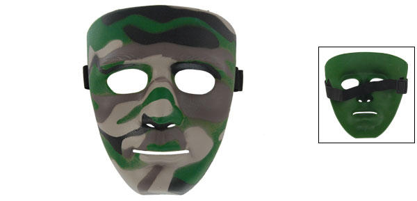 Outdoor Wargame Environmental-friendly Camouflage Style Hard Plastic Mask