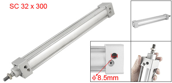 32mm Bore 300mm Stroke Dual Action Pneumatic Cylinder