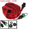 Garden Car Washing Gun Sprayer 13.9M Red Flat Pipe Hose
