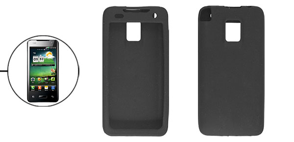 Protective Silicone Skin Black Shell for LG Optimus 2X P990