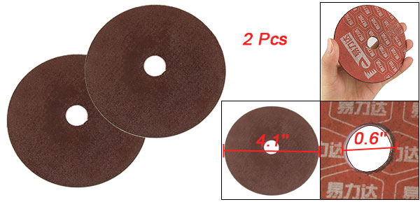 2 Pcs 105mm Outer Dia 1mm Thick Abrasives Cutting Wheel for Metal