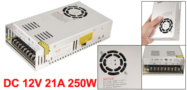 AC 110/220V 12V 21A 250W Switch Power Supply Adapter for LED Strip Light