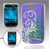Purple Silver Tone IMD Back Shell Case Guard for Blackberry 9800