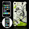 Plastic Blossom Butterfly Print IMD Back Case Cover Guard for iPh...