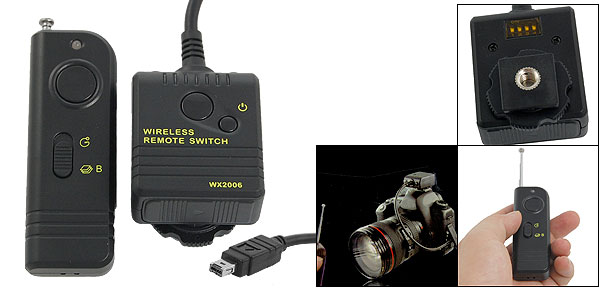 WX2006 Wireless Shutter Release Timer Remote Cable Release for Nikon D90 D5000