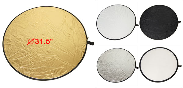 5 in 1 80cm Collapsible Multi Flash Round Reflector New