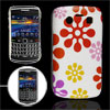 Multicolor Floral Print Plastic IMD Back Case for Blackberry 9700...
