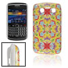 Colorful Floral Print Plastic IMD Back Cover Case for Blackberry ...