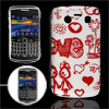 Red Cartoon Print Plastic IMD White Back Cover for Blackberry 970...
