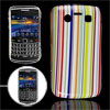Plastic Colorful Stripe Pattern IMD Back Cover Guard for Blackber...