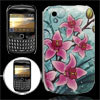 IMD Purple Flowers Hard Plastic Back Case for Blackberry Curve 85...