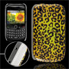 Leopard Pattern Plastic IMD Back Case Cover for Blackberry 8520