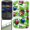 Colorful Ladybird Print IMD Plastic Back Case for Blackberry 9700...