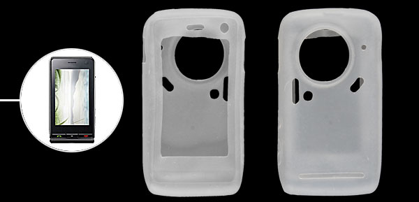Clear White Soft Silicone Skin Case Protector for LG KU900
