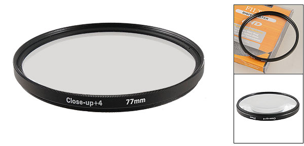Photography Camera Lens Protector Close up +4 Effect Filter 77mm