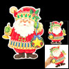 Christmas Ornament Glitter Powder Double Side Santa Decor Sticker