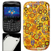Colorful Circles Pattern Plastic IMD Back Case for Blackberry 852...