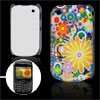 Colorful Flower Print IMD Plastic Back Case for Blackberry 8520