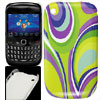 Colorful Printed IMD Plastic Back Case Cover for Blackberry 8520