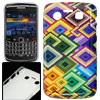 Colorful Argyle Pattern Plastic IMD Back Case for Blackberry 9700...