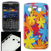 Colorful Flower Print Plastic IMD Back Cover for Blackberry 9700 ...