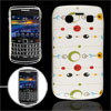 Hard Plastic IMD Eyes Cover Back Case White for BlackBerry 9700 9...
