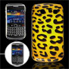 Yellow Black Leopard Print Back Case Cover for BlackBerry 9700 90...