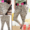 Leopard Print Stretchy Cropped Pants XS for Ladies