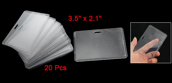 20 Pcs A1 Clear Clip Badge Exhibition ID Card Holder