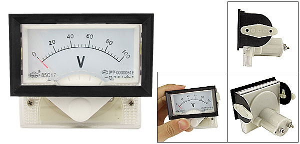 Class 2.5 Accuracy DC 0-100V Voltage Analog Panel Voltmeter