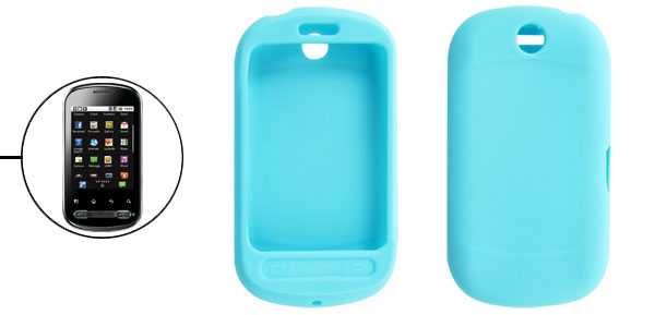 Sky Blue Soft Silicone Cover Case for LG Optimus Me P350