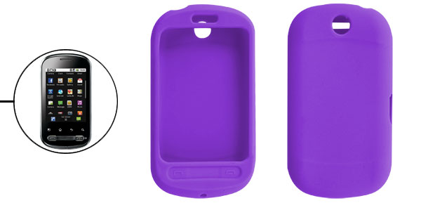 Purple Silicone Case Protector for LG Optimus Me P350