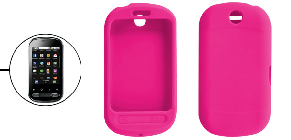 Protective Soft Silicone Skin Case Fuchsia for LG Optimus Me P350