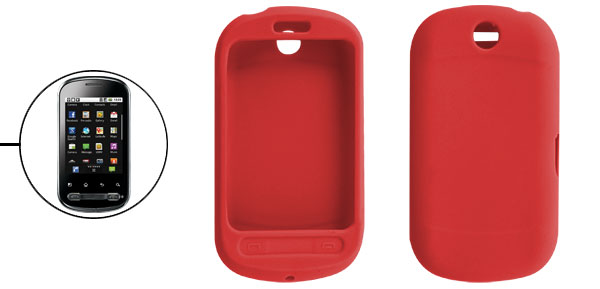 Red Smooth Protective Cover Shell for LG Optimus Me P350