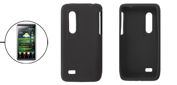 Protective Black Soft Silicone Skin Case for LG Optimus 3D P920