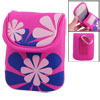 Loop And Hook Closure Sponge Digital Camera Bag Magenta