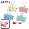 "Office Metal File Document Paper Foldback Binder Clips 1.6"" Width..."