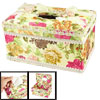 Multicolor Floral Rectangular Tissue Paper Box Container