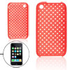 Red Nonslip Protective Soft Plastic Case for iPhone 3G 3GS