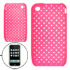 Protective Magenta Weave Design Soft Plastic Case for iPhone 3G 3...