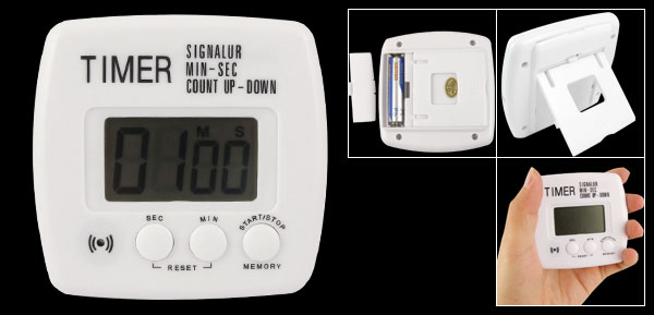 LCD Display Digital Count Up Down Timer Alarm Clock