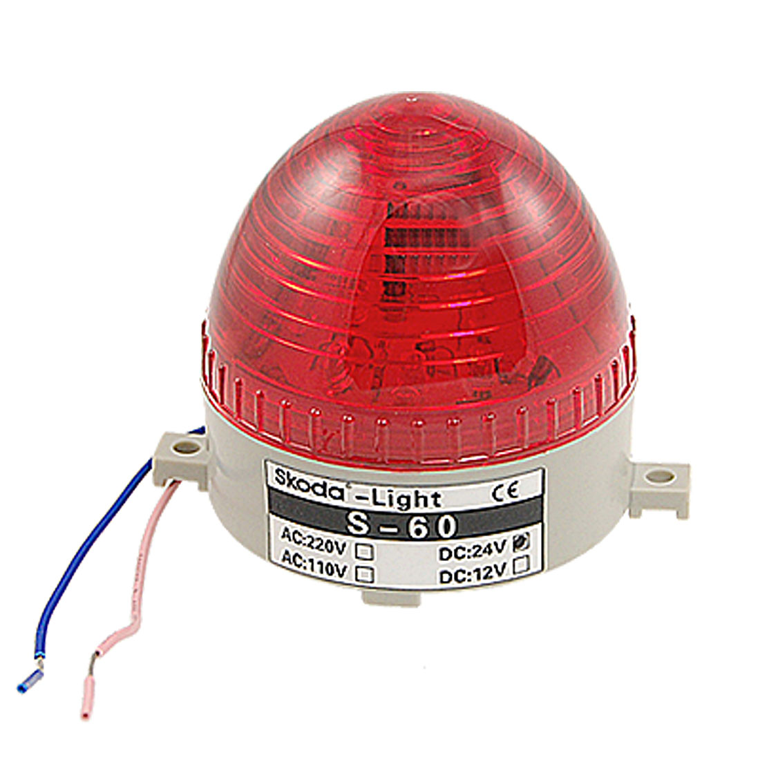 DC-24V-Plastic-Housing-Red-LED-Light-Industrial-Warning-Lamp-Ftugw