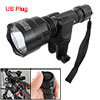 Black Aluminum Shell 1 White LED Flashlight Bike Headlight w Char...
