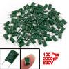 100 Pcs 2200pF 630V 5% Mylar Polyester Film Capacitors