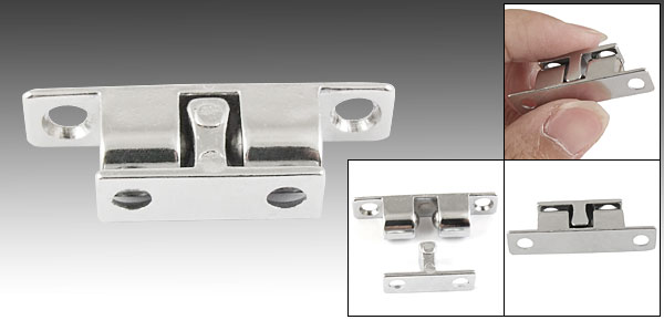 Double Ball Catch 40mm Cupboard Door Latch Silver Tone