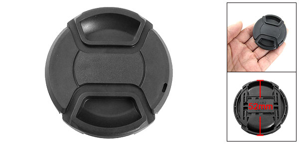 52mm Center Release Front Lens Cap Protector Black